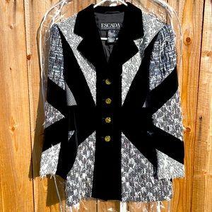 ESCADA NWOT Vintage Tweed & Cashmere Blazer